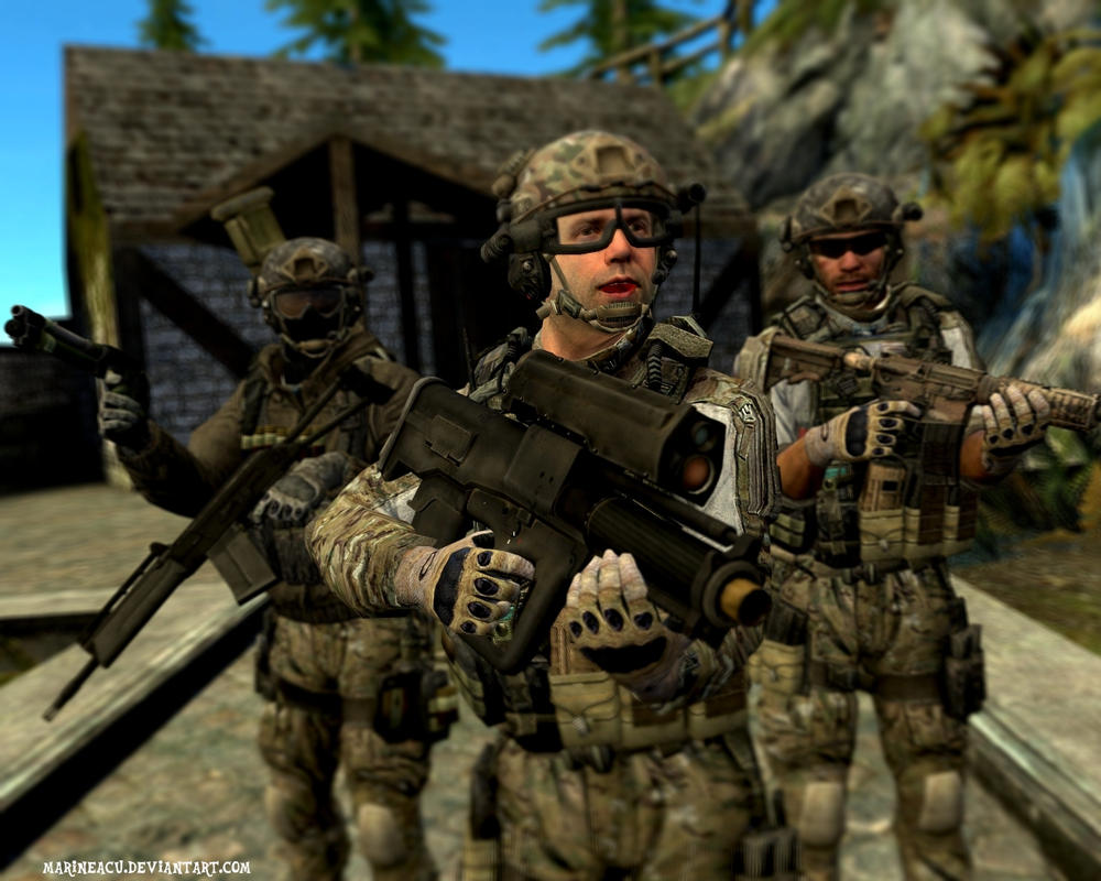 MW3: Delta Force generic pose by MarineACU on DeviantArt