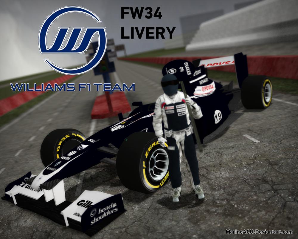 F1: Williams FW34 Livery by MarineACU