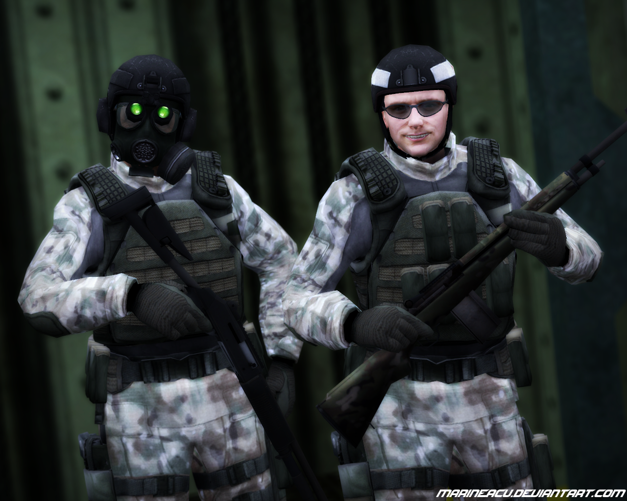 Black Mesa Source Soldier Boys in Multicam by MarineACU