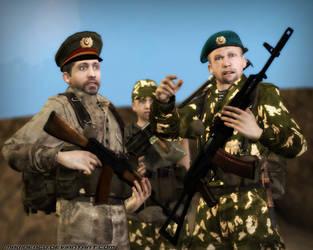 Soviet soldiers in Afghanistan (testing) by MarineACU