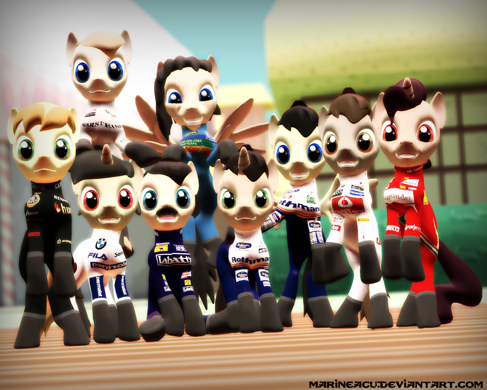 MLP OC: My Little F1 revival - F1 Champs Part 1 by MarineACU
