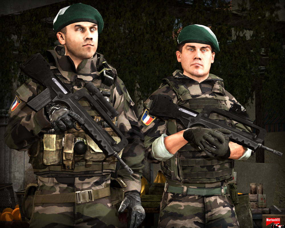 Legion Etrangere troops by MarineACU