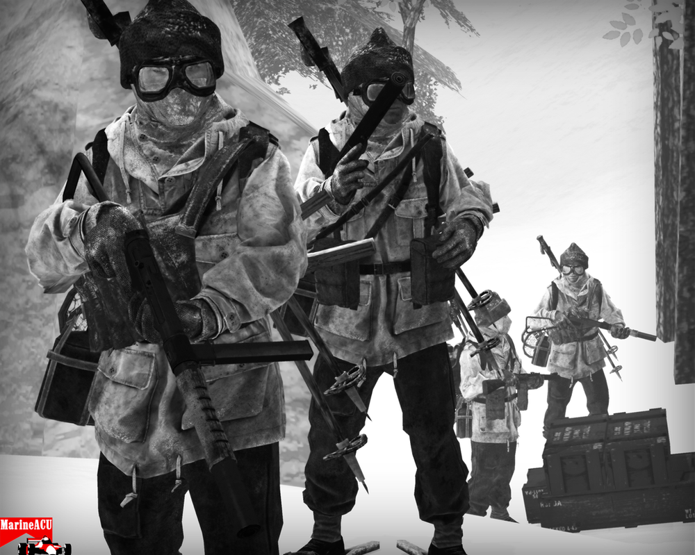 British commandos in the snow by MarineACU