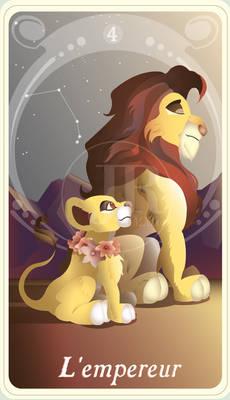 {The Princess Tarot} 'L'empereur: Simba and Kiara'