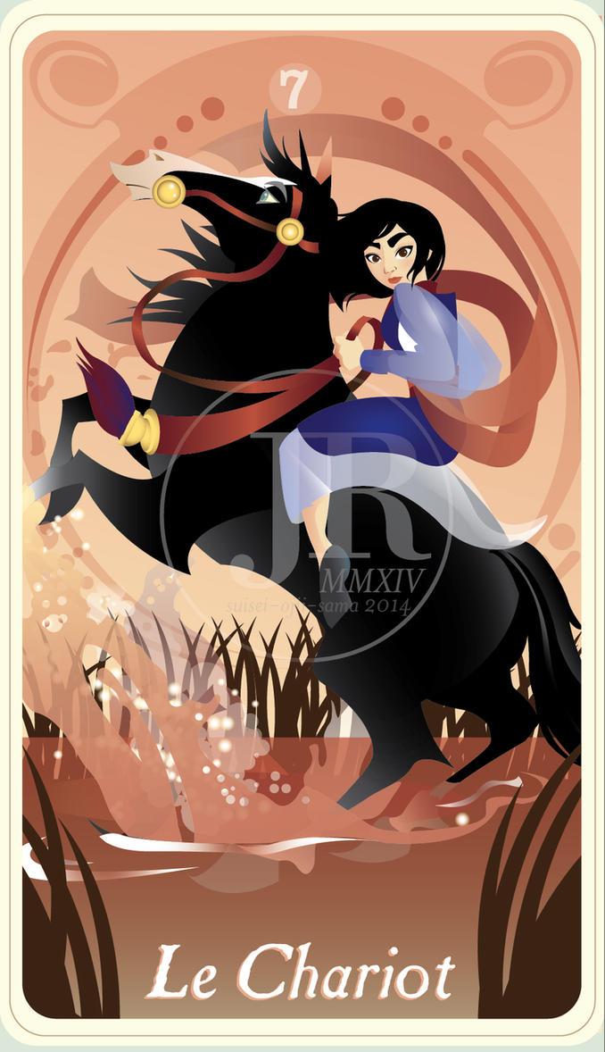 {The Princess Tarot} 'Le Chariot: Mulan' by suisei-ojii-sama