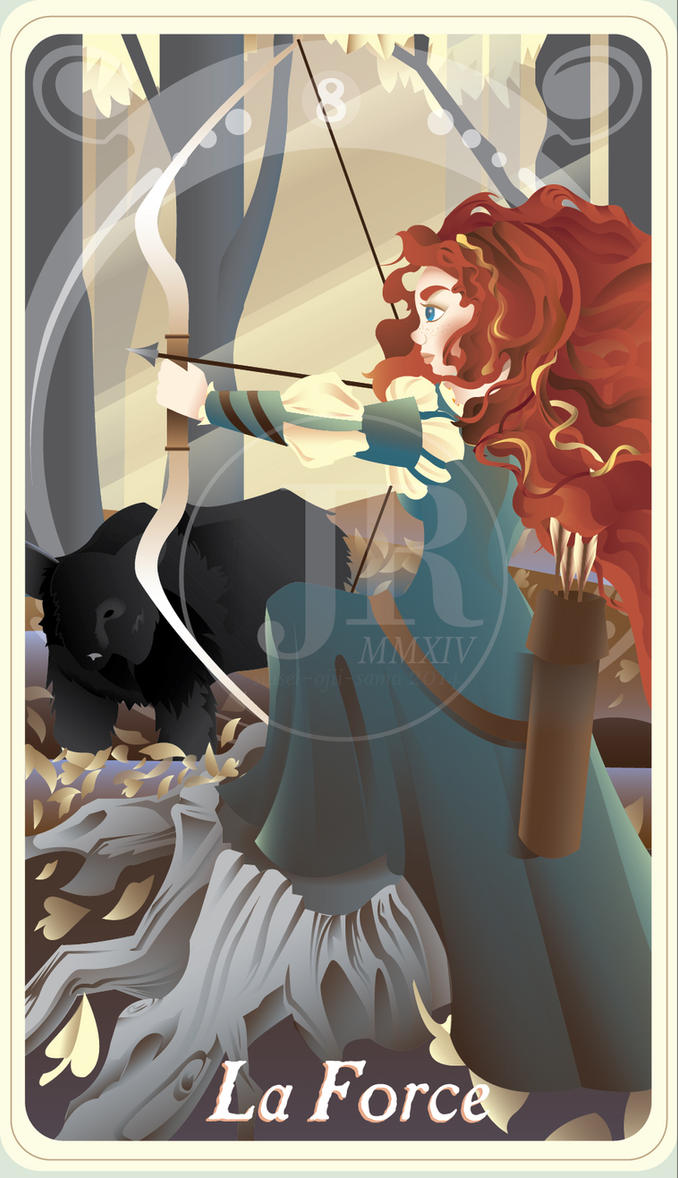 {The Princess Tarot} 'La Force: Merida' by suisei-ojii-sama