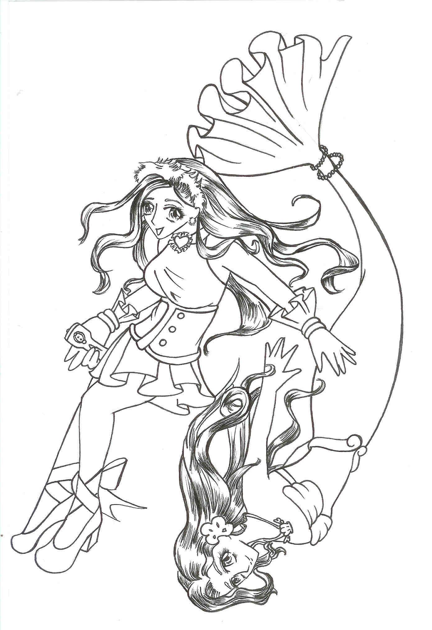 Manga Style Disney Princess by Chihiro Howe Ariel  Manga Mermaid Princess