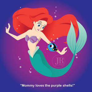 Mommy loves the purple shells