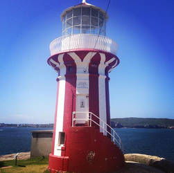 The candycane striped lighthouse at Watsons Bay