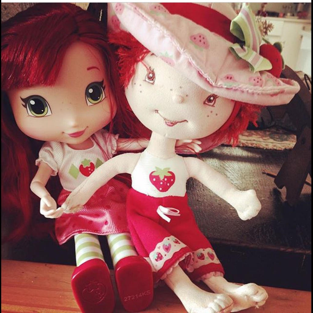 Strawberry  Shortcake Now and Then by GlitterQueen