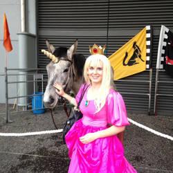 Princess Peach with Pet Unicorn