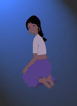 Shanti the girl-cub (nocturnal version)