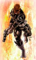 Nick Fury (digital inks / quick colors)