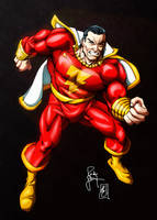 Shazam! Classic Captain Marvel (colors) by FantasticMystery