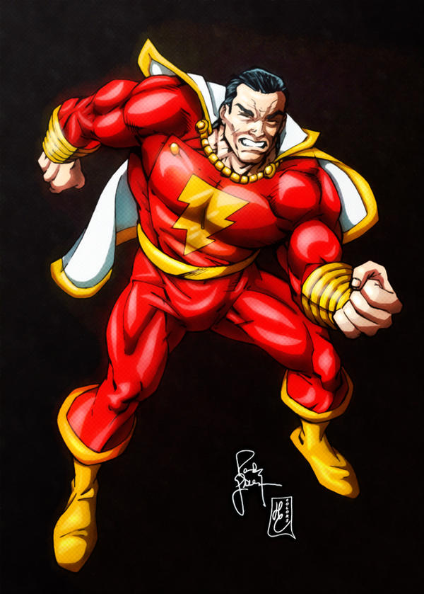 Shazam Classic Captain Marvel Colors By FantasticMystery