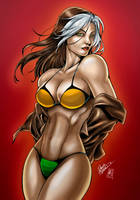 Rogue Bikini (colors) by FantasticMystery