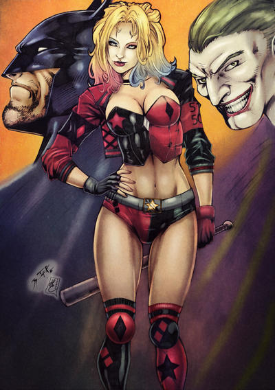 Harley Quinn (colors) by FantasticMystery