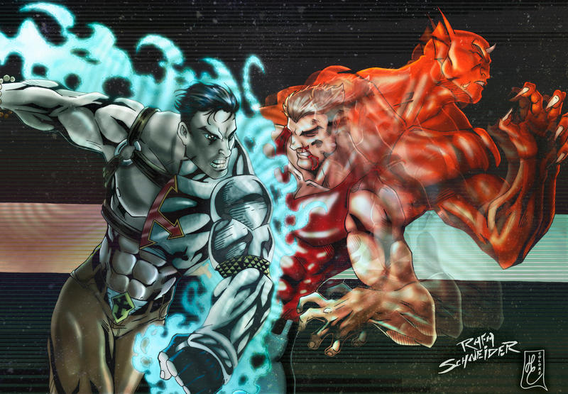 Good VS Evil (colors) by FantasticMystery