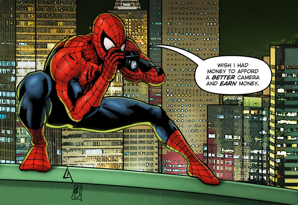 Spidey (inks,colors and letters) by FantasticMystery