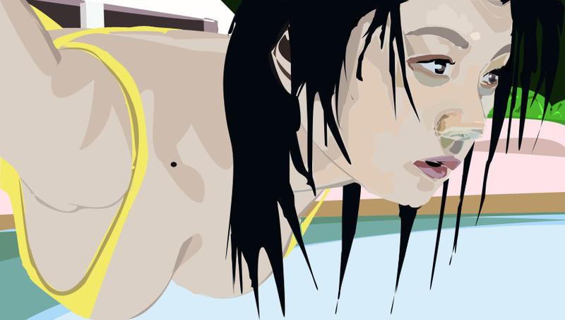 Eiko Koike pool drawing... by Kayldera