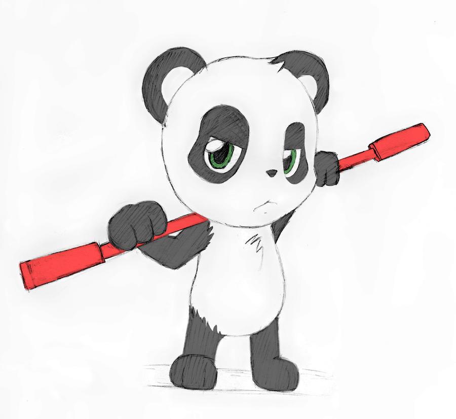 Panda Chibi By Htfan