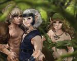 ElfQuest - Cutter, Skywise, Nightfall by Jemppu