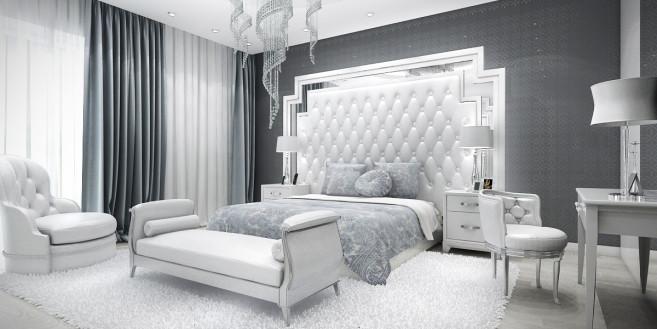 Projekt wnetrza sypialni glamour by ArtCoreDesign