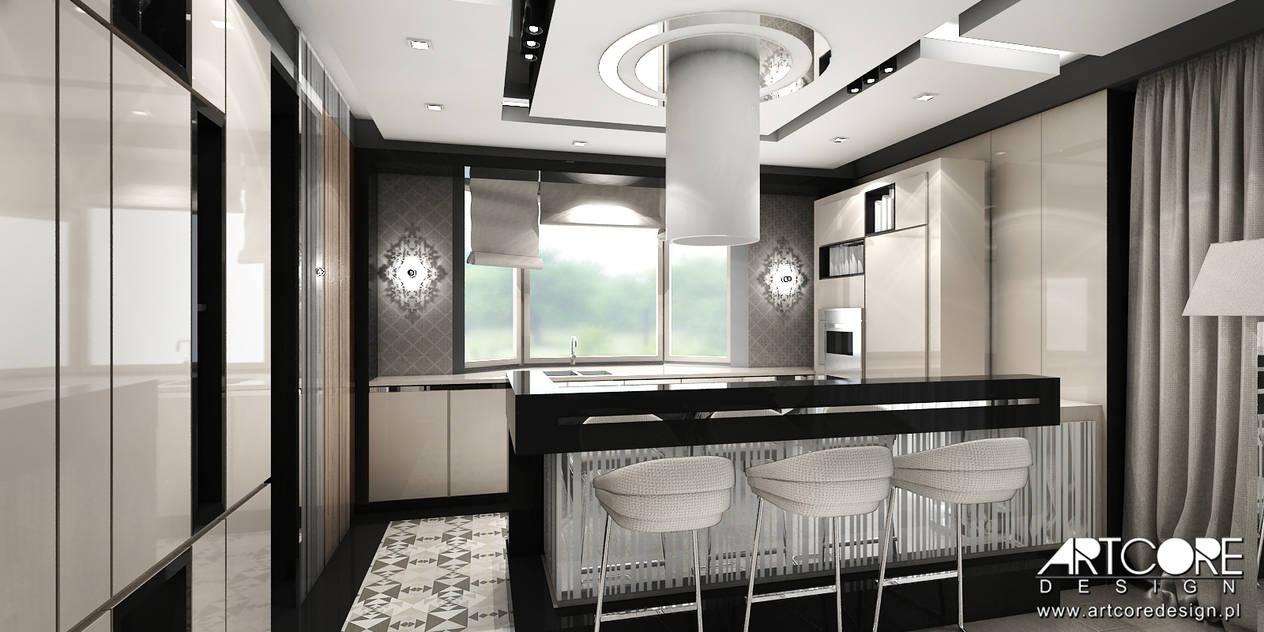 Kuchnia Z Barkiem Projekty Metamorfozy Domów Aranżacje