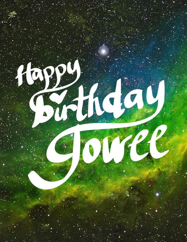 Happy Birthday Jowee by iiRunningColors