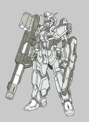 Krounus Commission 3: Morgan Gundam by Linkinpark30101