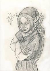 Link and Navi sketch by Segundus
