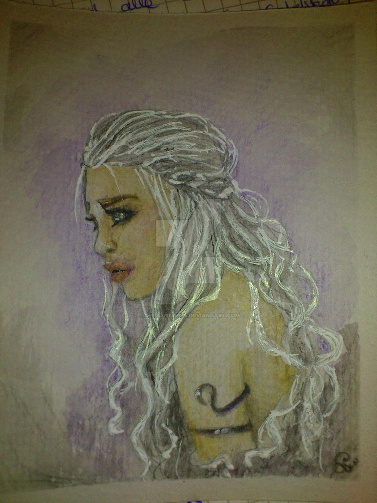 Mini Portrait III- Daenerys Targaryen by GentianaArts