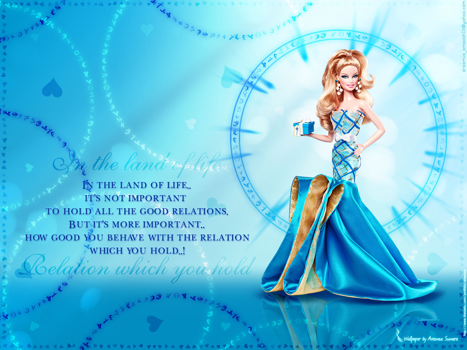 Blue Barbie Doll Walle
