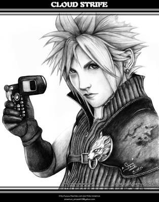 Cloud Strife from FF VII AC by areemus