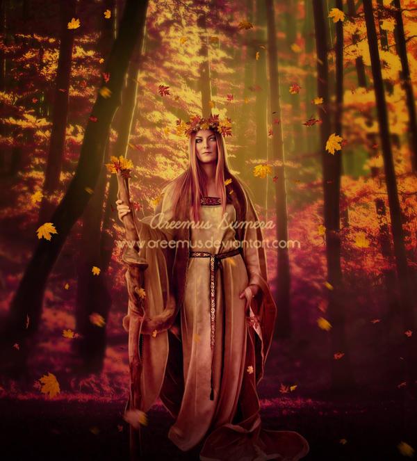 Autumn Goddess by areemus