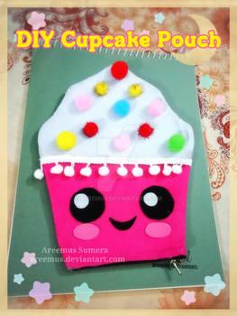 DIY cupcake theme pencil pouch