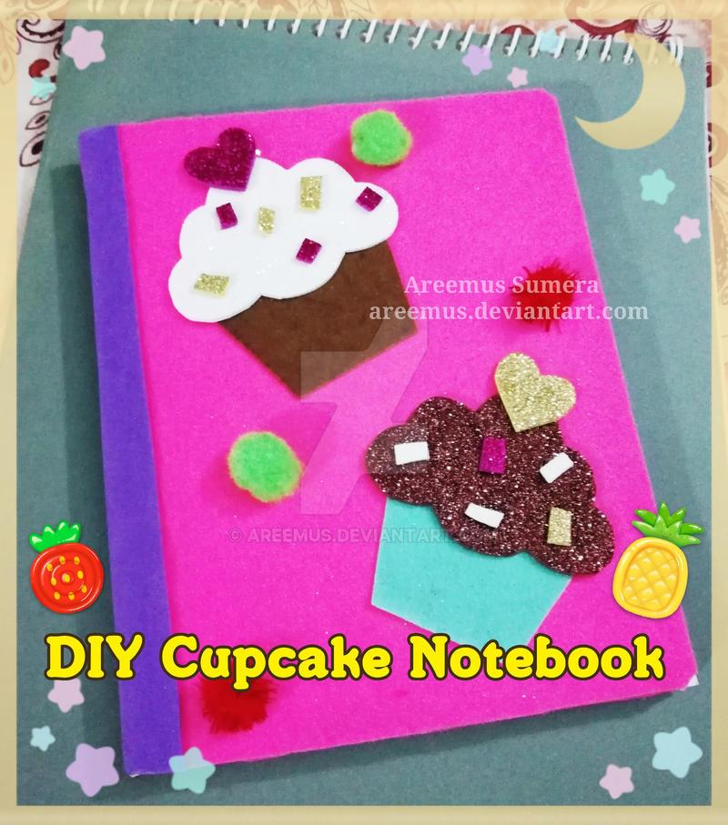 DIY cupcake theme notebook