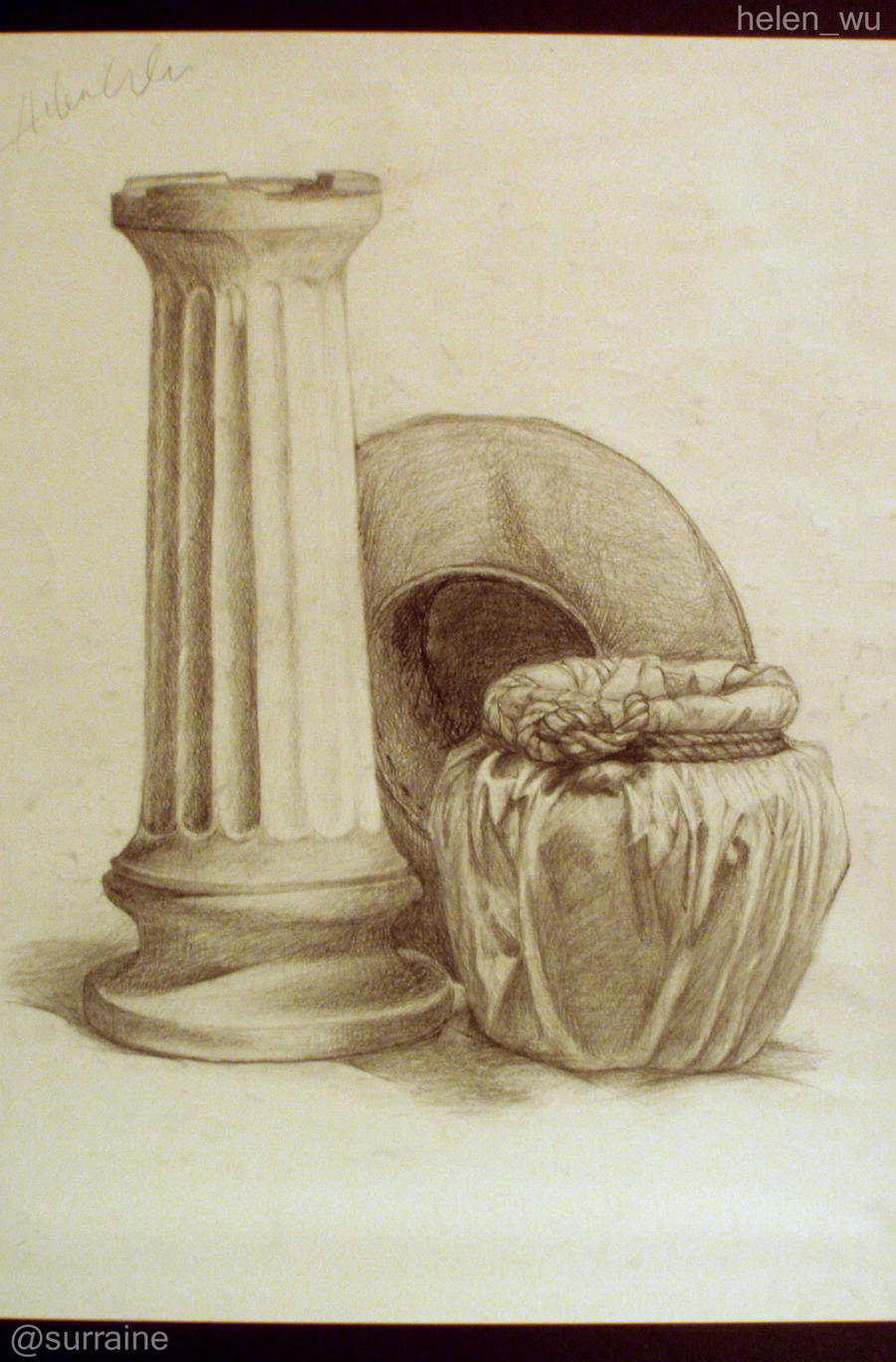 Still Life Drawing  - Still Life Drawing By Surraine