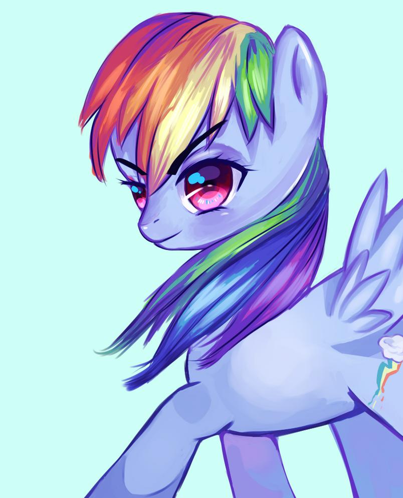 Rainbow Dash Portrait by Itunu