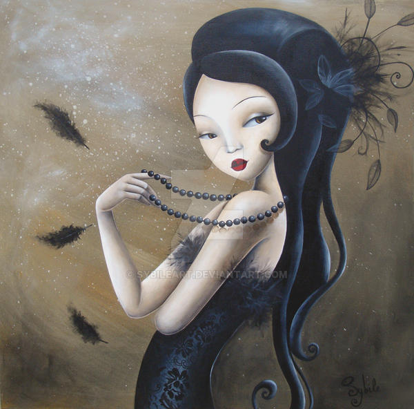 Plumes perles et dentelles by LadySybile