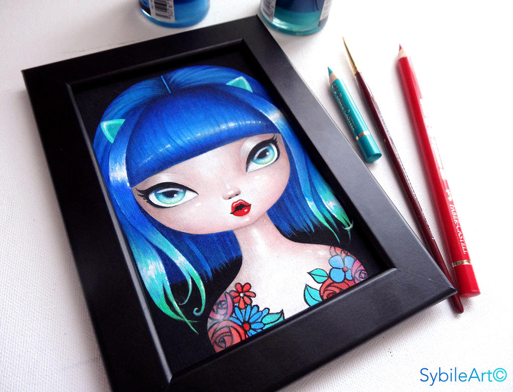 Blue Hair by SybileArt