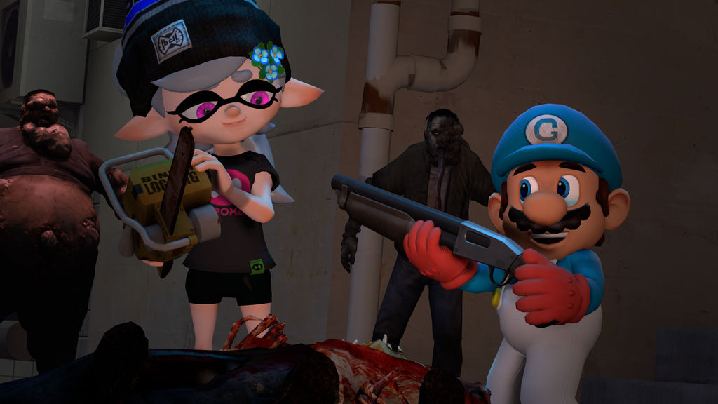 Survivors [Splatoon L4D2 SFM] by OfficialGeofcraze634 on