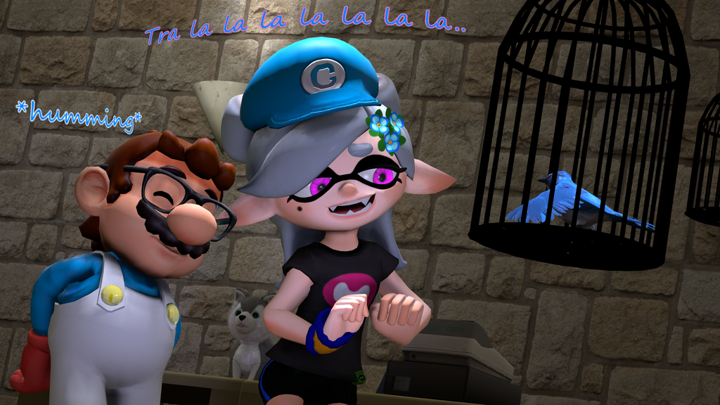 Anime Characters For Gmod : The bird singer splatoon sfm by geoffman on deviantart