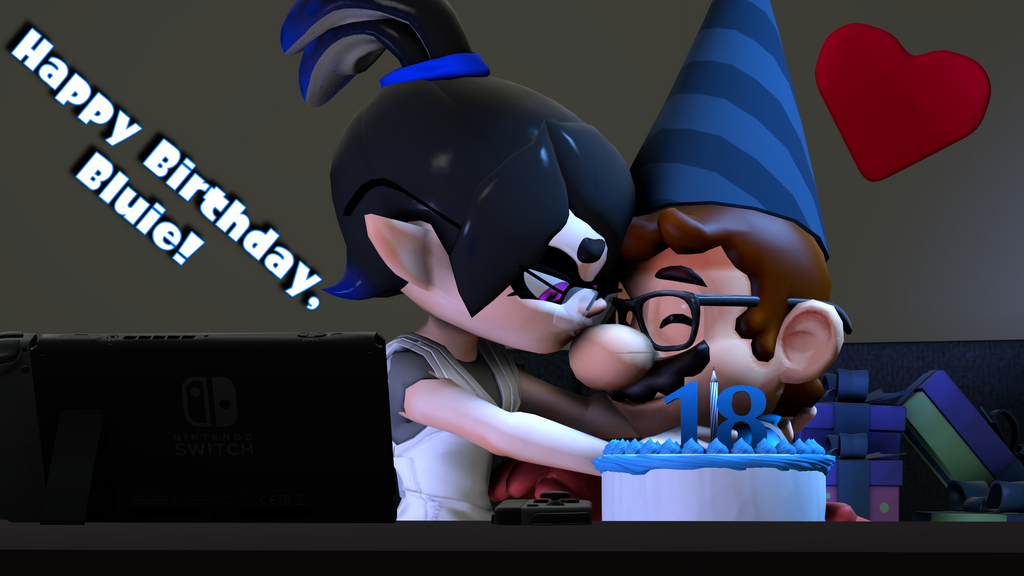 Happy Early Birthday, Bluie! [Splatoon SFM] by Geoffman275