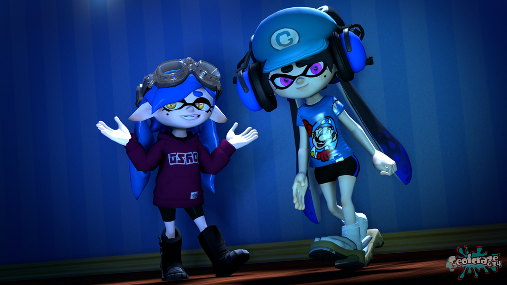 OSO Blue and Bluie [Splatoon SFM] by Geoffman275