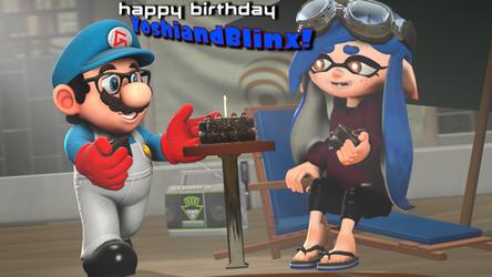 Happy Birthday, YoshiandBlinx! [Splatoon SFM] by OfficialGeofcraze634