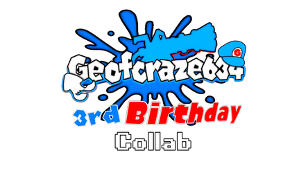 Geofcraze634's 3rd Birthday Collab Logo