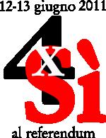4volteSI  referendum  2011 by zakunin