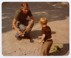 Sun Breaking Thru - Myself and son Jeremy, 1978