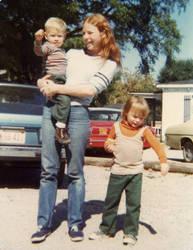 Sun Breaking Thru part - Mary and children, 1977